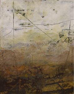 """dailyartjournal:    Rebecca Crowell, """"Rock Wall"""",mixed media on paper"""