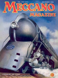 Library of Meccano Magazines – Steampunk – Magazine Train Posters, Railway Posters, Vintage Typography, Typography Poster, Locomotive, New York Central Railroad, Etiquette Vintage, Art Nouveau, Train Art