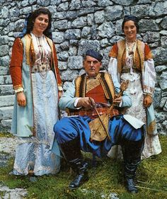 Costume of Crna Gora, Црна Гора. Montenegro, The Black Mountain