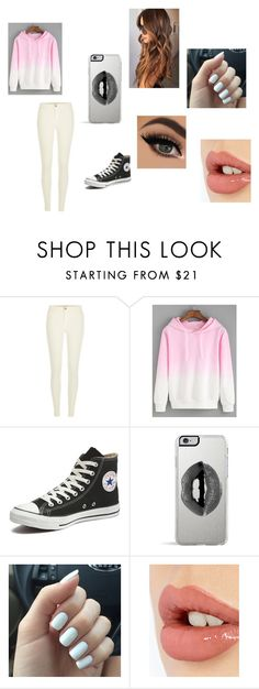 """Tomboyish Valentine's Day outfit"" by asialawson119 on Polyvore featuring River Island, Converse, Lipsy, Charlotte Tilbury, women's clothing, women's fashion, women, female, woman and misses"
