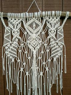 This is a LARGE piece! This macrame piece was handmade by me using 100% natural…