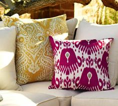 Ikat Outdoor Pillow | Pottery Barn