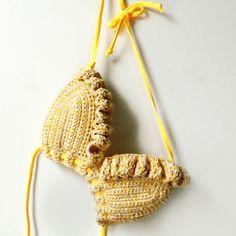 Sunshine Crochet Bikini Top