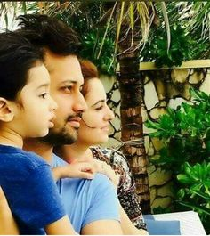 Atif Aslam with wife and son AHAD