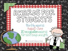 Classroom End of the Year Awards - Candy Themed | Student ...