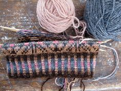 knitting. beautiful fair isle...someday I will be that talented!