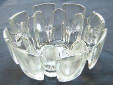 MID-CENTURY MODERN RETRO RAVENHEAD GLASS BOWL FLAIR ENGLAND circa 1970's
