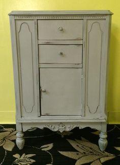 Antique Shabby Chic Distressed Cabinet 4 sale  Contact: info@joysshabbychicfurniture.com or visit: www.JoysShabbyChicFurniture.com