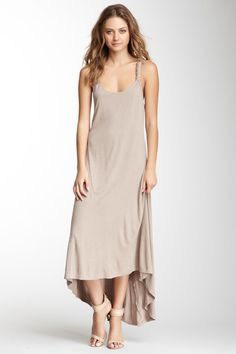 Hi-Lo Seamed Maxi Dress