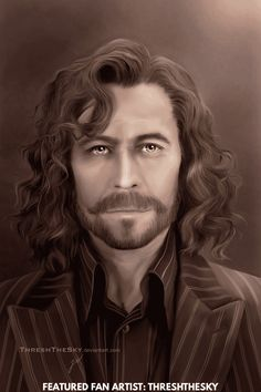 """""""Sirius"""" ~ Harry Potter fan art of Gary Oldman as Mr. Harry Potter 2, Fantasia Harry Potter, Harry Potter Artwork, Harry Potter Drawings, Sirius Black, Best Fanfiction, Fanfiction Stories, Harry And Hermione Fanfiction, Gary Oldman"""
