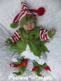 KNITTING PATTERN  KSB 47***MERRY CHRISTMAS BABIES IN SIZES 0/3, 3/6 AND 6/12