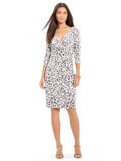 Floral Surplice Jersey Dress - Lauren Short Dresses - RalphLauren.com