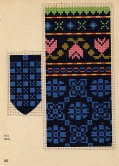 x 432 kt) Crochet Mittens Free Pattern, Fair Isle Knitting Patterns, Knitting Charts, Knit Mittens, Knitted Gloves, Knitting Socks, Hand Knitting, Cross Stitch Bird, Cross Stitch Patterns