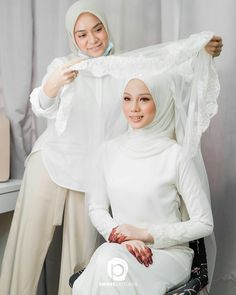 Wedding Looks, Dream Wedding, Wedding Photography Contract, Bridal Hijab, Hijab Niqab, Kebaya, Headpiece, Muslim, Beautiful Dresses