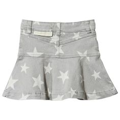 Grey Star Print Susie Denim Skirt