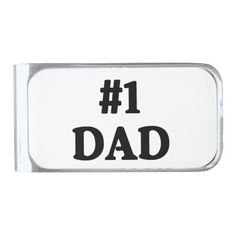 """""""#1 Dad"""" Money Clip is a sophisticated gift perfect for birthdays, holidays, Father's day, weddings and more. Available in three finishes: silver, gold or gunmetal."""