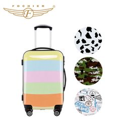 Luggage Suitcase, Travel Luggage, Shell, Abs, Printed, Store, Women, Crunches, Women's