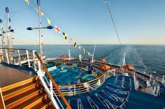 The Sunset Pool onboard Carnival Dream is one of several pools onboard the ship. Carnival Dream Photos