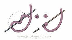 как сделать французский узелок-рисунок
