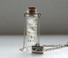 Wish necklace...need to source the tiny glass vials...
