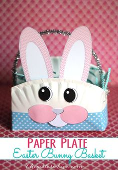 How to make easter paper plate basket easter diy bunny diy ideas diy paper plate easter bunny basket super fun easter craft to do with your littles eastercrafts diy easter kidscrafts solutioingenieria Choice Image