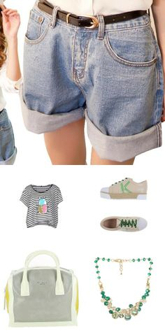 All the ways to wear your #jean #shorts- daytime & night time #looks