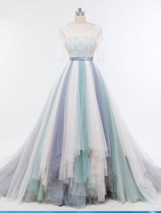 Cheap crystal evening dress, Buy Quality evening gown directly from China evening dress Suppliers: New Arrivals Long Tulle Evening Gowns Sheer Sleeves A line Beaded Crystal Evening Dresses 2017 Custom Size Vestido De Festa Tulle Wedding Gown, Wedding Gowns With Sleeves, Bridal Gowns, Evening Dresses, Prom Dresses, Wedding Dresses, Pretty Dresses, Beautiful Dresses, Deep V Dress