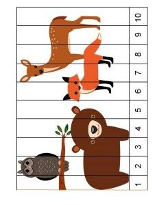 Forest animals math activities for preschoolers Forest Animal Crafts, Forest Animals, Woodland Animals, Woodland Theme, Animal Activities, Preschool Learning Activities, Preschool Activities, Fun Worksheets For Kids, Animal Worksheets
