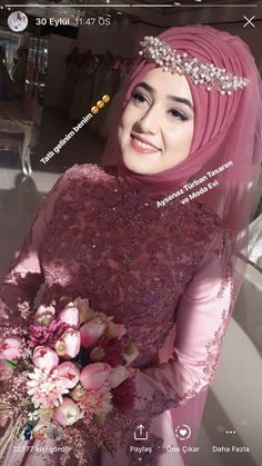 You will find different rumors about the real history of the marriage dress; tesettür First Narration; Muslim Wedding Gown, Hijabi Wedding, Muslimah Wedding Dress, Muslim Brides, Pakistani Wedding Dresses, Modest Wedding Dresses, Wedding Dress Styles, Bridal Dresses, Muslim Girls