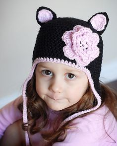 Cat Earflap Hat Crochet Pattern Permission to by adrienneengar, $4.99. Made this for my niece two years ago for christmas in colors to match her winter coat. Nat