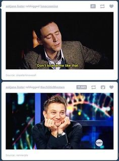 funny tumblr coincidences (I'm not so big on the whole Hiddleston/Loki crazy, but this is just too funny.)