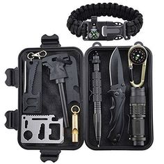 Perfect Gift you will find the XUANLAN survival gear kit is the ultimate survival tools for camping trips backpacking wilderness survival fishing mountaineering hunting and hiking trips. Its also perfect for what your child needs for a starter survival ki #survivalgear