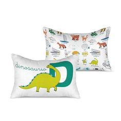cojin-dinosaurio Textiles, Bed Pillows, Pillow Cases, Cushion Covers, Filing Cabinets, Bebe, Pillows, Cloths, Fabrics