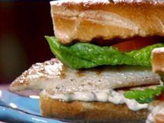 Paula Deen-Grilled Tilapia Po' Boys with Homemade Tartar Sauce Recipe Tilapia Recipes, Fish Recipes, Seafood Recipes, Sandwich Recipes, Grilled Tilapia, Grilled Prawns, Grilled Cauliflower, Grilled Halloumi