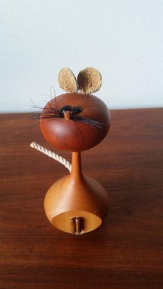 Mid-Century Laurids Lonborg Turned Teak Mouse