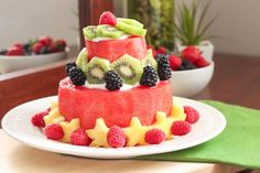 Looking for healthy dessert that's made of whole foods, free of added sugars, and super delicious? Look no further - this watermelon cake is for you!