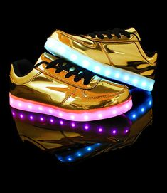 Women's Golden Low Tops