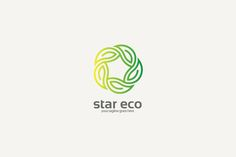 Organic Star Logo by cairon on @creativemarket