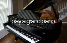Play a grand piano