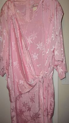 Size 16,Pink Wrap Dress Evening/Club Wear, by Star World Polyester, Long Sleeves #StarWorld #WrapShiftDress #Clubwear