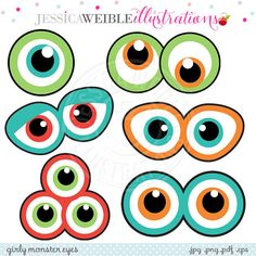 Monster Eyes Cute Printable Birthday Party Favors - Printable Monster Eyes…