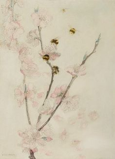 "stilllifequickheart: "" Katherine Cameron Blossom and Bees Late 19th - early 20th century """