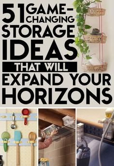 So many great ideas I've never seen // 51 Game-Changing Storage Solutions That Will Expand Your Horizons