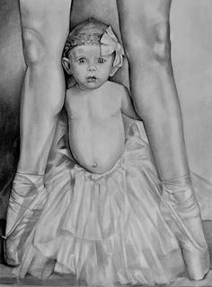 The Ballerina by Curtis James - The Ballerina Drawing - The Ballerina Fine Art Prints and Posters for Sale