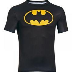 Under Armour Men's Alter Ego Superman Compression Top In Black Batman Under Armor Shorts, Under Armour T Shirts, Under Armour Men, Tottenham Hotspur, Alter Ego, Capri Leggings, Dc Comics, Superman Shirt, Black Batman
