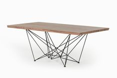 Cavaye Place Table Add a striking touch to your room Modern Dinning Table, Metal Dining Table, Rustic Table, Dining Tables, Dining Room, Wood Table, Natural Wood Furniture, Modern Furniture, Industrial Furniture