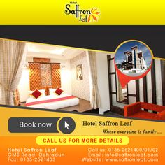 #Hotel #SaffronLeaf - Where everyone is #family ...