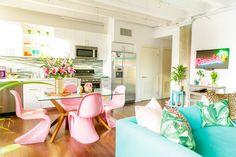 Casinha colorida: Paradise: um loft anos 70 em LA que enlouquece qualquer um
