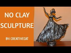 Woman Sculpture without clay/Best out of waste/art and craft/Dancing women Paper Mache Sculpture, Sculpture Painting, Clay Sculptures, Waste Art, Art Fil, Elephant Sculpture, Wine Bottle Art, Paperclay, Diy Fashion