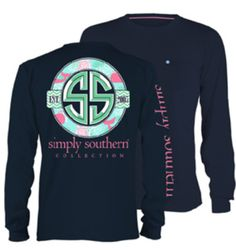 b90eb4e52 Show off your love for Simply Southern in this NEW whale-patterned Logo  Long Sleeve with front pocket! We proudly offer free shipping on this shirt.
